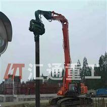 廣州挖掘機配件打樁臂、液壓打樁機廠家直銷