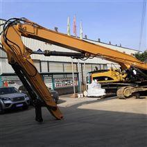 鉤機改裝打樁臂、挖掘機打樁錘定制廠家