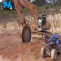 挖掘機前端屬具隧道弧切巖石鋸鉤機