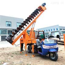农用三轮汽车螺旋钻杆打桩机多功能